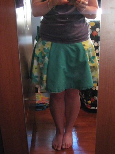 Green Floral Wrap Skirt 3