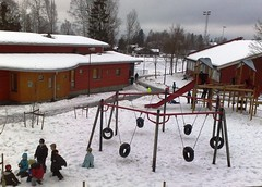 Children play in snow in Norway #5