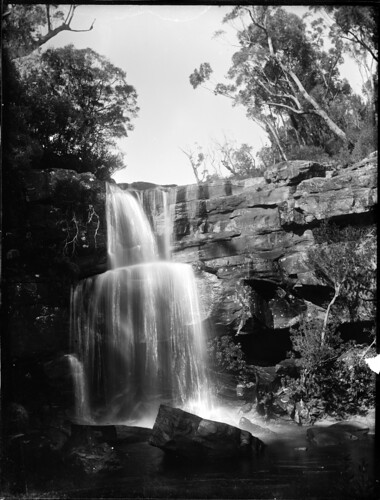 View of a waterfall by Powerhouse Museum Collection.