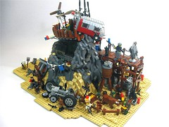 Desert Haven (Crimson Wolf) Tags: tractor haven rock vw desert lego cessna apocalego