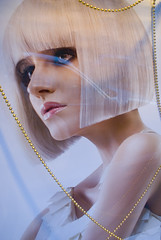 Looking for pearls - Regard de perles (andrewagner) Tags: christmas portrait window look beads nol colliers soe vitrine necklaces regard coiffure hairdressing perles mywinners theunforgettablepictures colourartaward goldstaraward