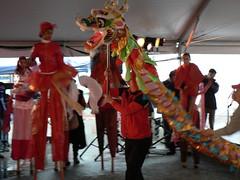 Cultural Olympiad Feb 1 09 6 GH Dragon and stilts in back..DM photo