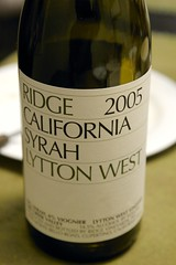 2005 Ridge Lytton West Syrah
