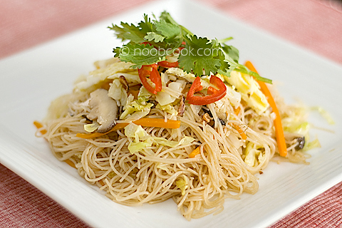 Fried Bee Hoon (Rice Vermicelli) with Stewed Pork
