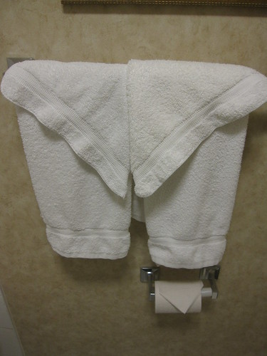 Matching Towels & TP at Radisson Toronto