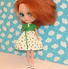 Wearin 'o The Green (sewgrandmacathy) Tags: doll dress blythe etsy shamrocks takara