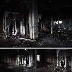 (aragonzo) Tags: old light white abandoned window beautiful station digital train wonder jerusalem explore burnt block poles deserted