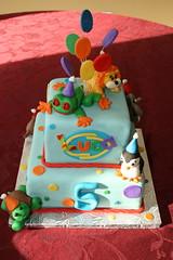 Webkinz cake (irresistibledesserts) Tags: birthday boy elephant girl cake penguin turtle lion frog webkinz