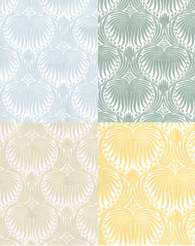 Farrow & Ball Lotus Print Wallpaper