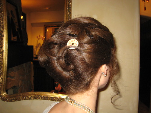 bridal hair updo hairstyles. There is also a wonderful detailed Asian inspired hair ornamentarrette