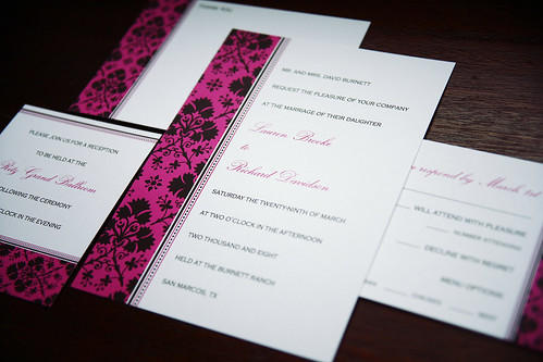 Damask Wedding Invitations, Damask wedding invitation idea, samples, wedding invitation, flowers, photos