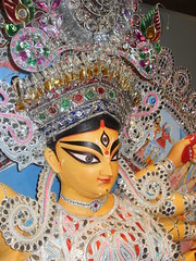 Durga - nearly finished! (MuseumWales) Tags: colour history st museum 1 vibrant goddess jewels creating oriel fagansnational