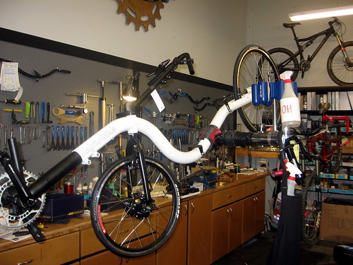 Raptobike being assembled