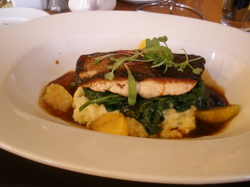 Salmon and Grits at Circle Bistro