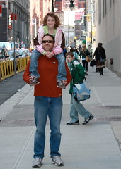 Dave and Em hoofing around NYC