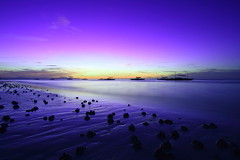 Blue Hour at the Beach (lemuelreyes) Tags: travel summer tourism beach sunrise boats island dawn landscapes twilight sand seascapes horizon philippines silhouettes explore bohol bluehour lemuel reyes panglao canon1022 nothdr dumaluanbeach canon400d leogene