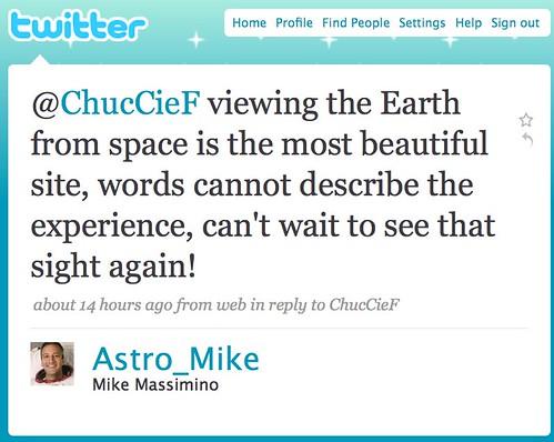 Nasa twitter Astro_mike