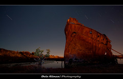 Excelsior's at Night, Mutton Cove (Dale Allman) Tags: lightpainting water night canon rust shipwreck adelaide southaustralia startrail portadelaide excelsiors muttoncove canon5dmark2