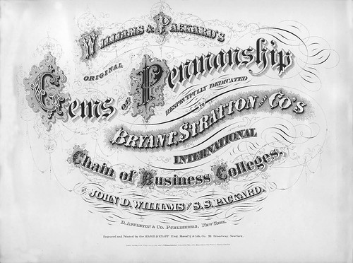 021 Williams J.D. and S.S. Packard 1867-Gems of Penmanship