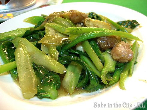 KT - Stir-fried Kai Lan with Salted Fish (RM12)