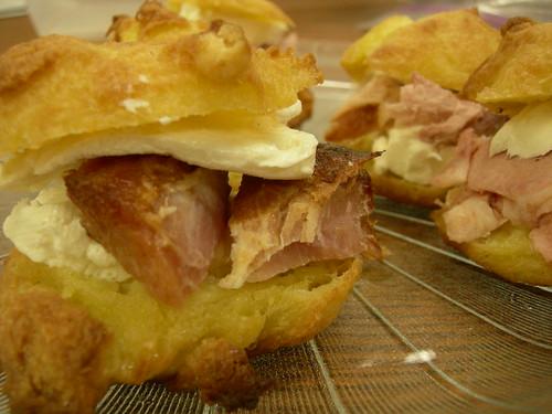 Mini ham and cheese sammies