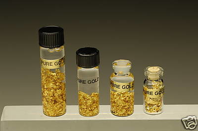 Pure gold in vials
