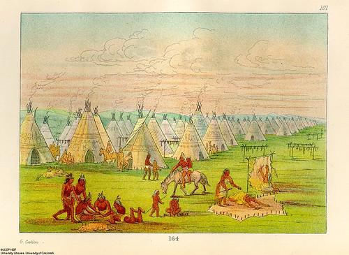 019-Poblado comanche-George Catlin 1841