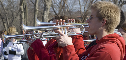 Trumpeting the runners