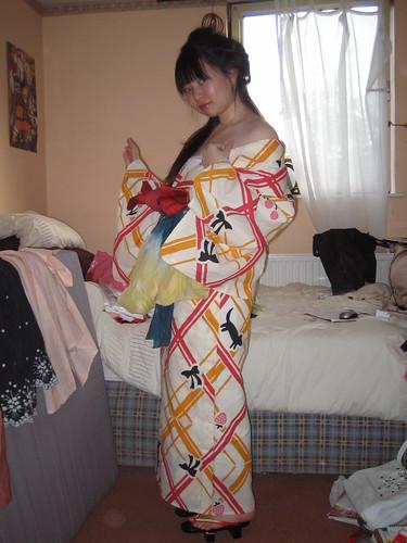 Oiran-Style Yukata Fun~!