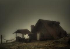 en la soledad de la cabaa (elpidio garza) Tags: mexico sierra bosque neblina niebla montaas cabaa nuevolen