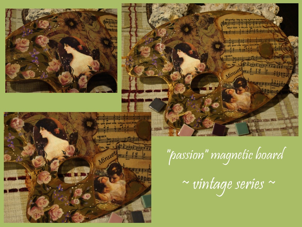 passion 2 magnetic board - vintage series