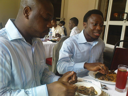 Akin Akinyemi, Managing Partner, BPT Consulting and Kehinde Eseyin during Lunch