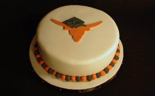 Longhorn Graduation Cake