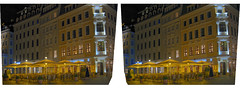 Dresden at Night HDR II :: Cross Eye 3D :: (Stereotron) Tags: longexposure eye canon stereoscopic stereophoto stereophotography 3d c