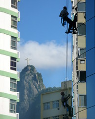 Christ the Redeemer Blessing The Window Washers (servuloh) Tags: world from street brazil urban sculpture mountain man reflection building bus window rio statue vidro espelho brasil by architecture canon buildings de wonder landscape ventana photography mirror spider movement janeiro christ action pov jesus cleaners centro streetphotography ao powershot cleaning corcovado escultura mirrored janela through prdio cristo botafogo cleaner nibus rappel omnipresence abseiling washing rappelling washer empresarial redeemer redentor prdios rapel esttua edifcio alpinism g7 vidros mourisco limpador espelhado limpadores riobybus limpa limpiavidrios onipresente onipresena
