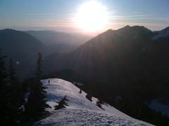 TNABer on the sun-baked west summit ridge
