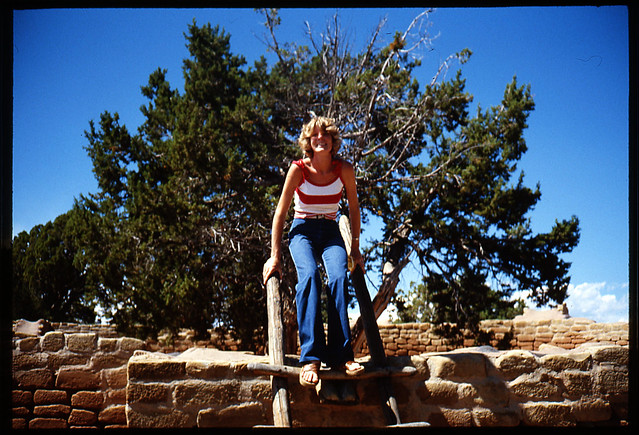 Mom on ladder August 79