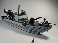 Patrol Boat (Ricecracker.) Tags: river army boat lego fig military mini figure minifig patrol minifigure minifigscale