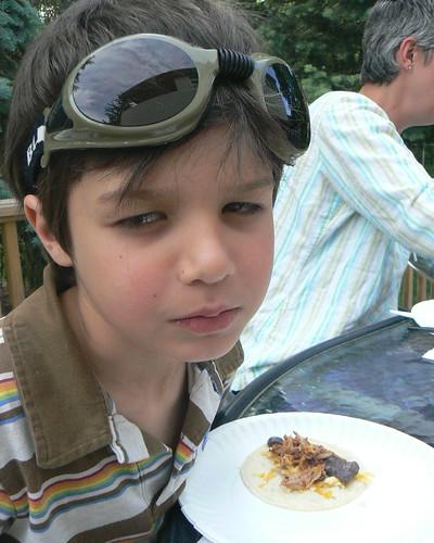 Boy with taco