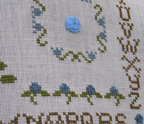 Fleurs Bleues. Detail