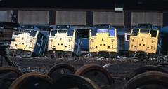 Class 31 31170 31124 MC Metals 10/8/92 (Stapleton Road) Tags: train scotland railway class locomotive scrapyard scrap 31 class31 class45 mcmetals dieselsclass20