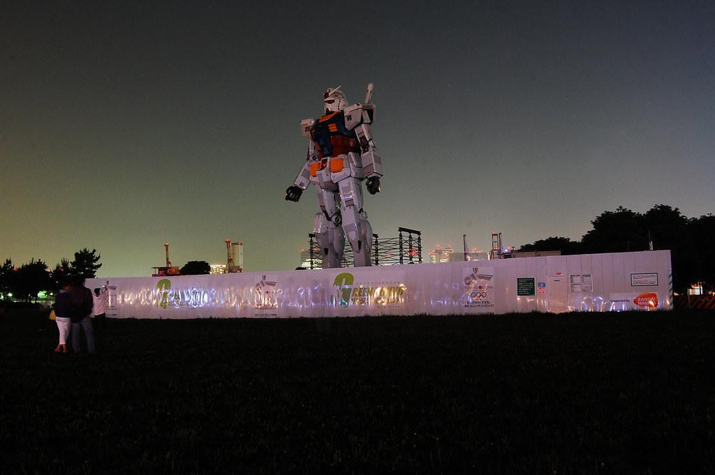 Anime Gundam tamaño real Tokio