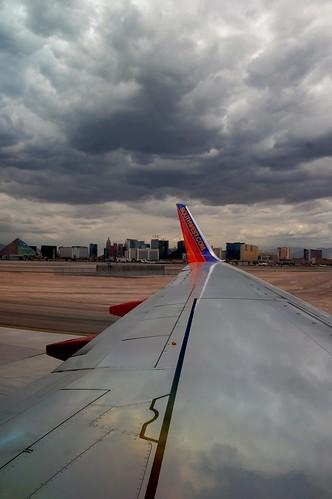 Las Vegas Strip from the Plane