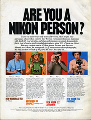 Are You a Nikon Person? (1978) (Nesster) Tags: camera vintage magazine photography nikon ad advertisement advert 1978 fm nikkormat ft3 f2a photomic el2