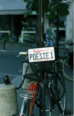 Poesie 1 (Karl Hab) Tags: life california paris bike bicycle canon 50mm 1 see poetry you 14 august can it only karl effect 2009 parisian hab poesie
