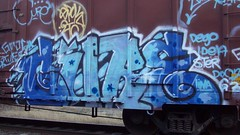 cure (Making Stuff Blog) Tags: trains bnsf boxcarart fr8trains texasgraff texasbenching texasfr8s texasgraffitifreighttrains goldenwestservicefr8s