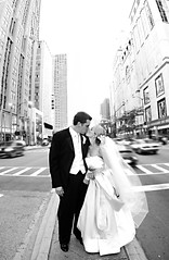 Chicago Bride and Groom on Michigan Avenue (The Drake Hotel Chicago) Tags: wedding chicago michiganavenue drakehotel magnificentmile drake11 dopplr:stay=l231