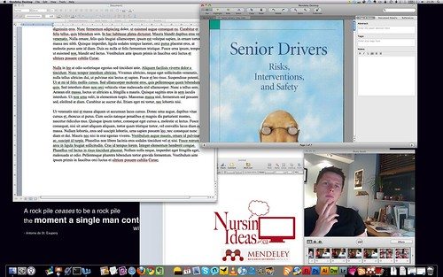 Rob Fraser working on the Nursing Ideas Screencast for Mendeley
