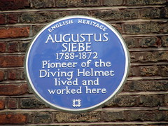 Photo of Augustus Siebe blue plaque