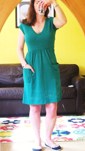 green dress front after